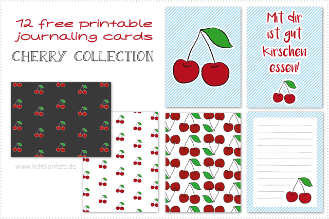 Free Printable Journaling Cards - Cherry Collection