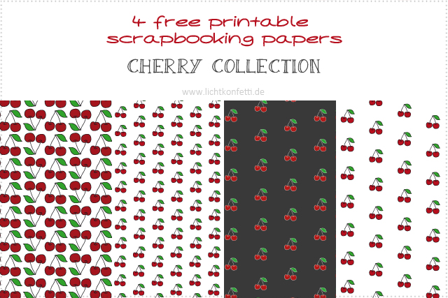 Free Printable Scrapbooking Papers - Cherry Collection