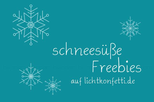 Titelbild schneesüße Freebies