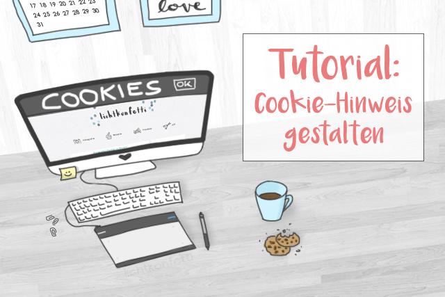 Tutorial - Blogger Cookie-Hinweis gestalten