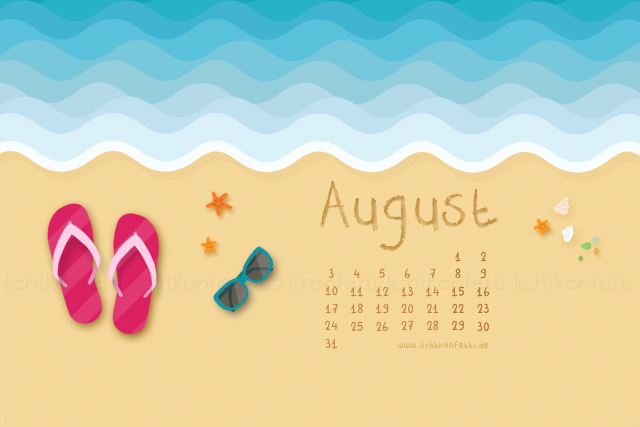 Wallpaper August 2015 - Beach Sea Strand