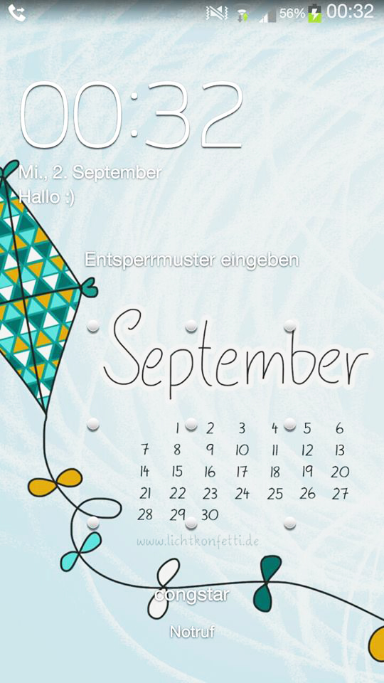 Smartphone iPhone Wallpaper September - Autumn Fall Kite