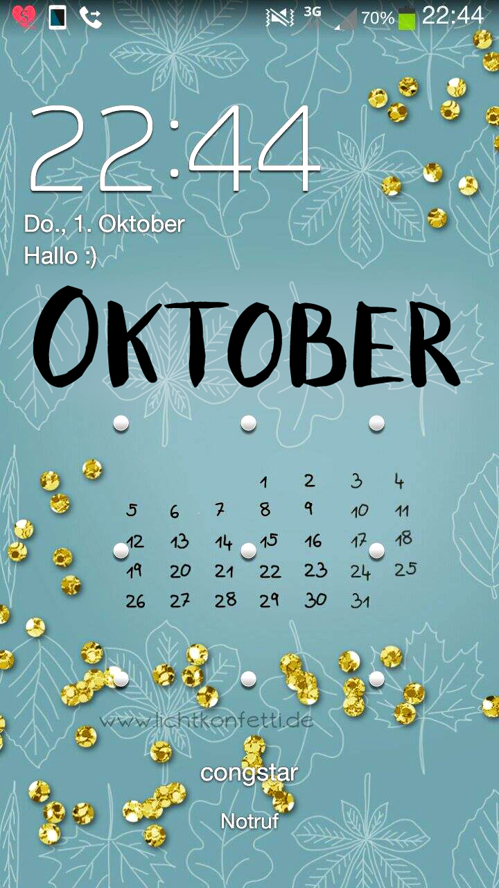 Smartphone iPhone Wallpaper Oktober - Autumn Fall Gold Glitter