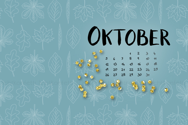 Wallpaper Oktober 2015 - Autumn Fall Gold Glitter