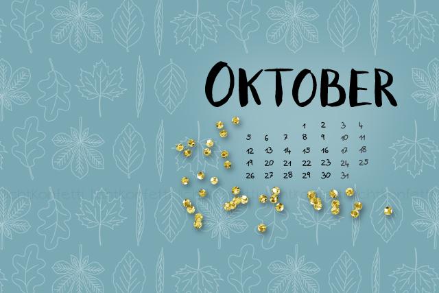Wallpaper Oktober 2015 - Autumn Fall Gold Glitter