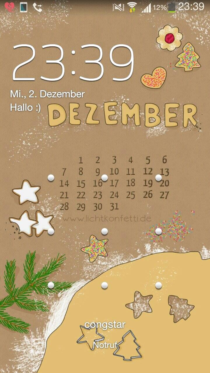 free Wallpaper Dezember 2015 iPhone - Plätzchen Kekse Weihnachten Christmas