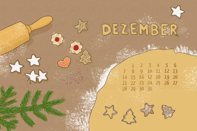 free Wallpaper Dezember 2015 - Plätzchen Kekse Weihnachten Christmas