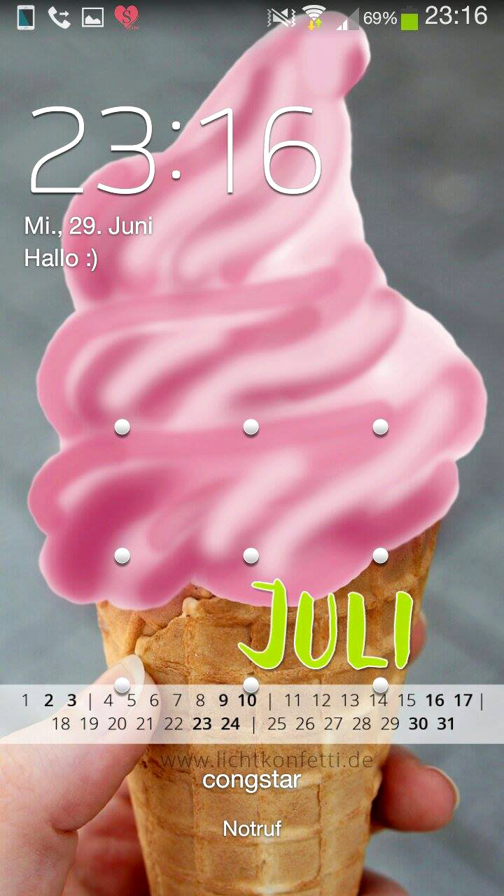 free Wallpaper Juli 2016 iPhone - Eis Yummy Sommer