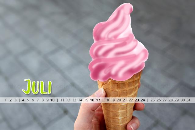 free Wallpaper Juli 2016 - Sommer Eis Yummy