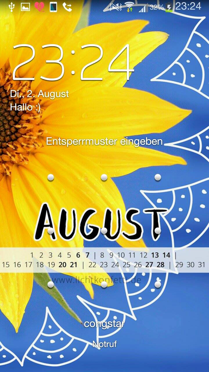 free Wallpaper August 2016 iPhone - Sonnenblume Mandala Sommer