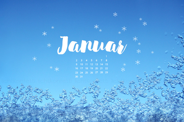 free Wallpaper Januar 2017 - Winter Schnee blau