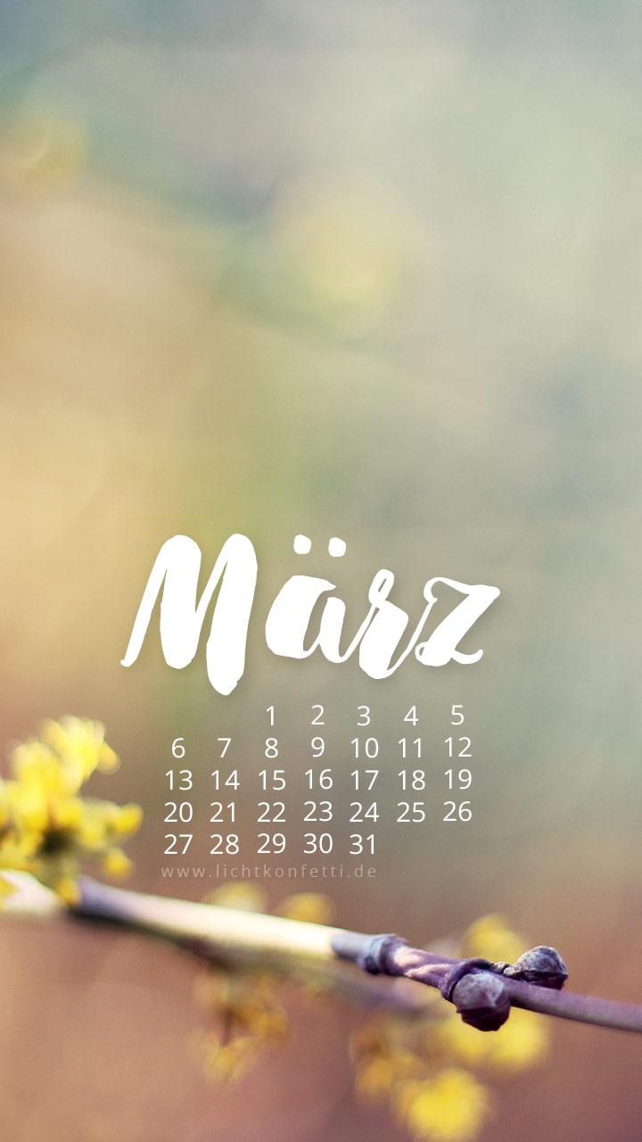 free Wallpaper März 2017 iPhone - Frühling Blüte
