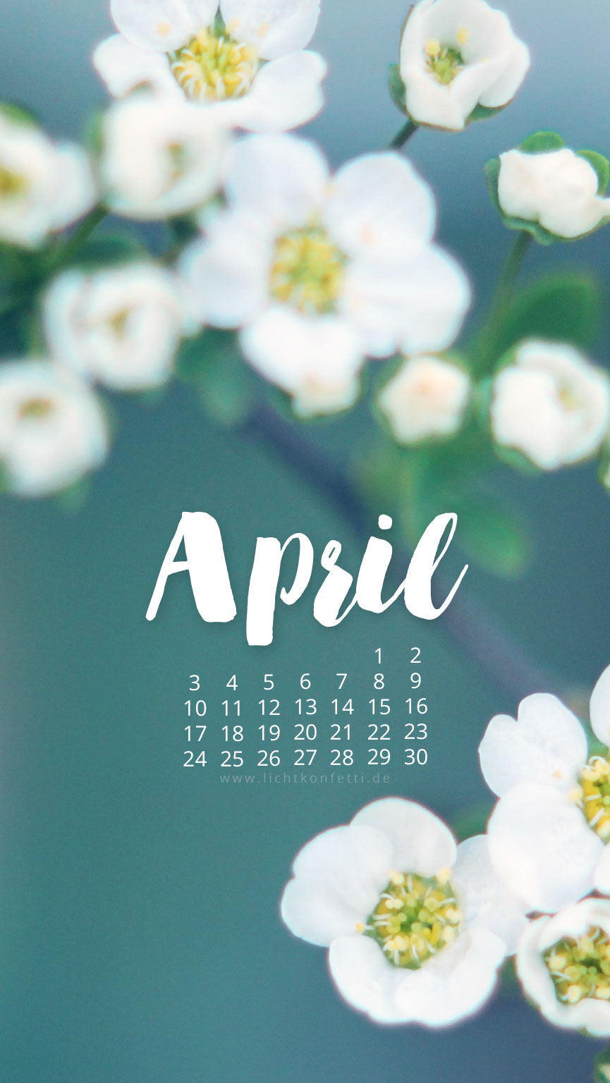 free Wallpaper April 2017 iPhone - Frühling Blüte
