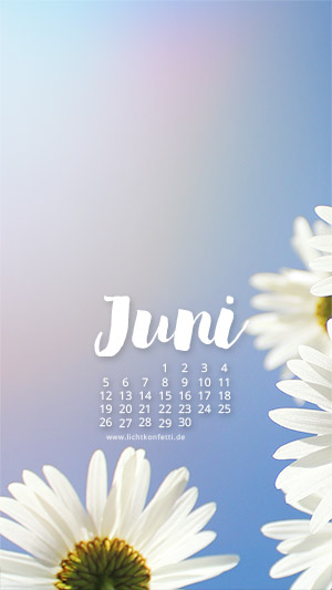 free Wallpaper Juni 2017 iPhone - Sommer Blumen