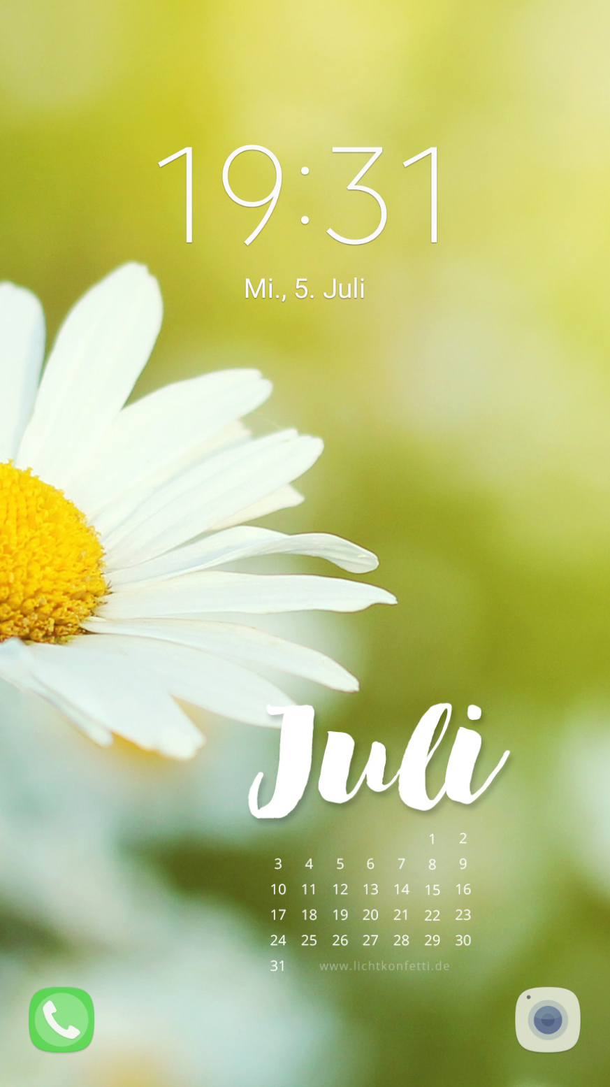 free Wallpaper Juli 2017 iPhone - Sommer Blumen