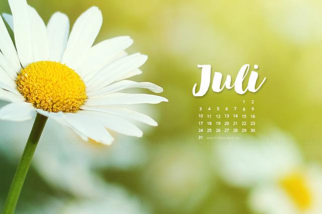 free Wallpaper Juli 2017 - Sommer Blumen