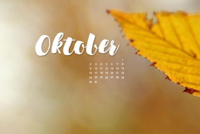 free Wallpaper Oktober 2017 - Herbst Laub