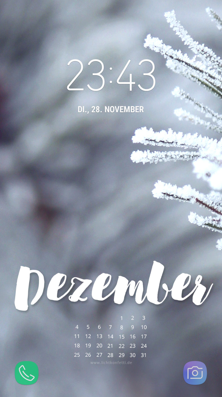 free Wallpaper Dezember 2017 iPhone - Winter Frost