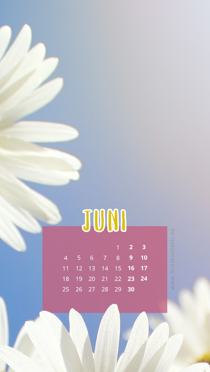 free Wallpaper Juni 2018 iPhone - Sommer Blumen